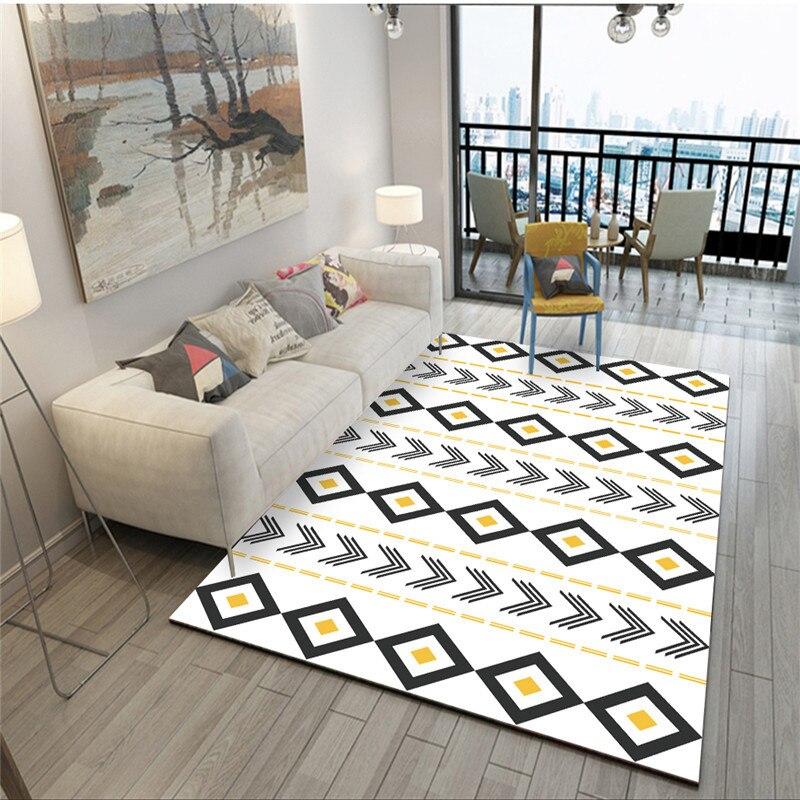 Tapis modernes géométriques pour salon maison nordique tapis chambre chevet couverture zone tapis doux étude salle teppich tapis plancher - 2