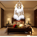 Handmade dream catcher with feathers car wall hanging lace decoration room decor adesivos para parede Dreamcatcher