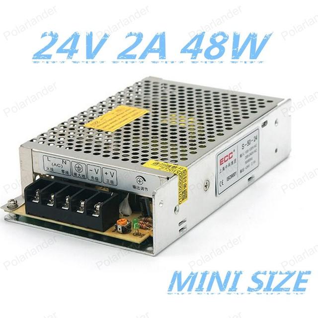 Mejor precio alto quality24V 2A 48 W Fuente de Alimentación Conmutada Conductor para la Tira del LED AC100V/240 V de Entrada DC 12 V libre gratis