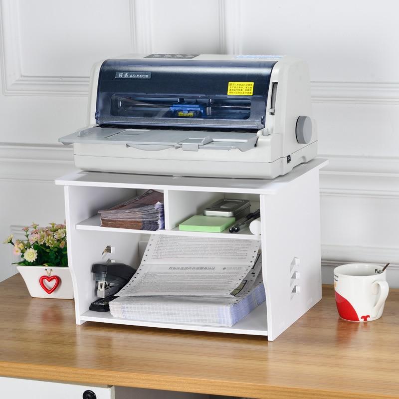 Rangement de bricolage imprimante bureau | Étagère à double couche, pour documents de bureau surélevée, pour billet