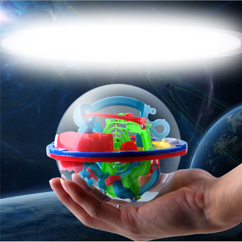 100 Optical Card 3D Puzzle Ball Magic Intellect Ball With Toy Gifts Puzzle Balance Logic Ability Game For Children Adults image