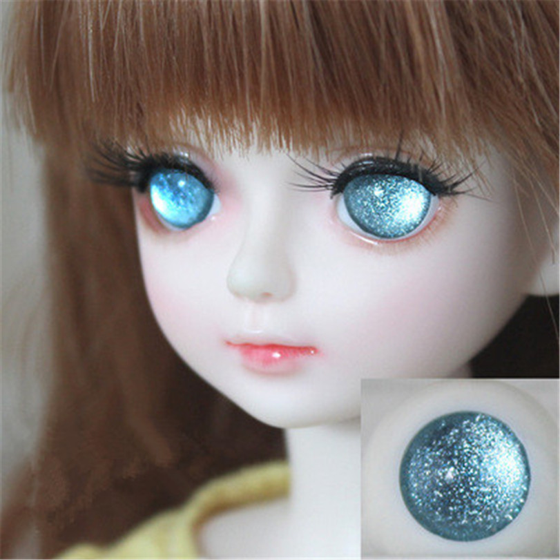 Wholesale 5 Pair of Black Pupil 14MM Glass BJD Eyes For 1//4 BJD Doll By Randomly