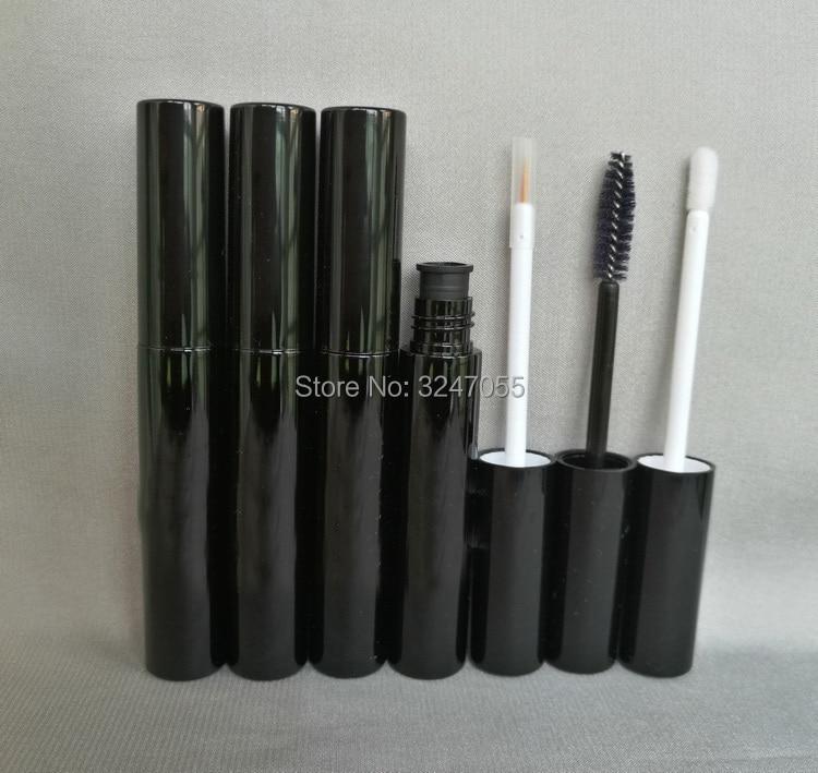 10ML 10/30/50/100pcs Plastic Empty Black Mascara Tubes, Cosmetic Lip Gloss Containers, DIY Black Eyeliner Refillable Bottels bqlzr diy 9 1x10x5cm black plastic left