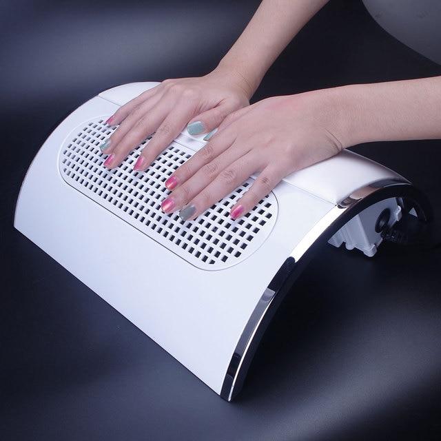 20 W 110 V/220 V colector de polvo de uñas de gran tamaño fuerte aspiradora de uñas baja ruidosa con 2 bolsas herramienta de salón