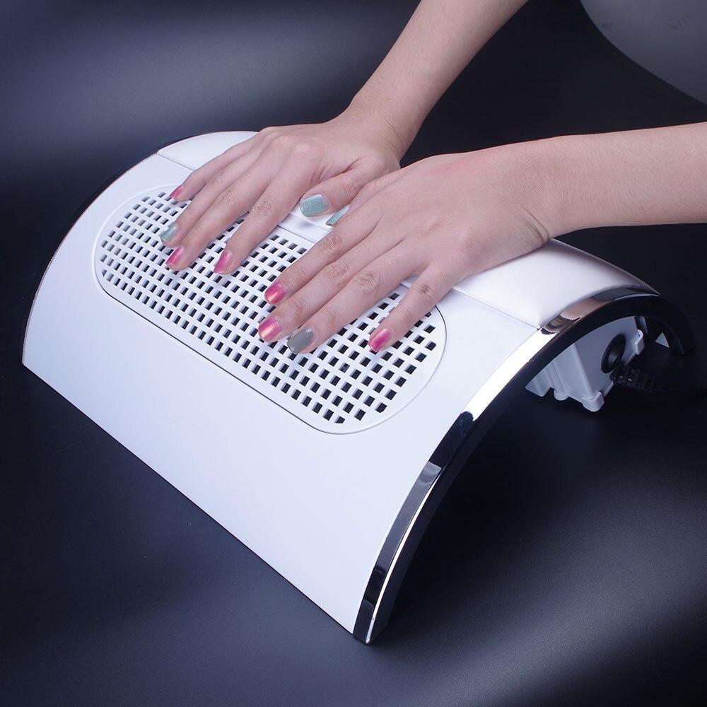 20 W 220 V/110 V colector de polvo de succión de uñas de gran tamaño fuerte máquina de aspiradora de uñas de bajo ruido con 2 bolsas herramienta de salón