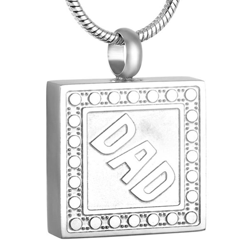 MJD9115 Mémoire de Papa Crémations Cendres Urne Pendentif Collier avec De Remplissage Kit