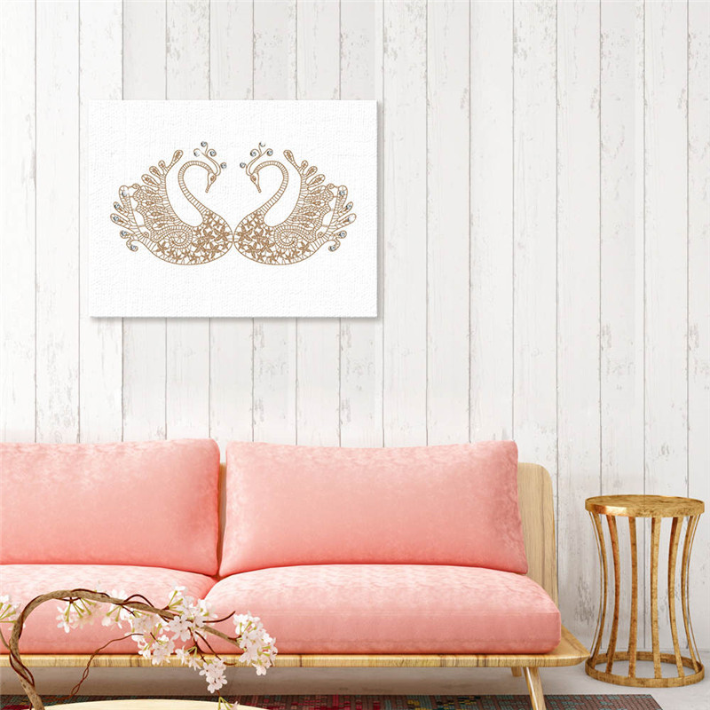 Creative Nordic Animal Swan DIY Diamond Painting Wall Art Picture Mural Print Canvas Painting Birthday Wedding Party Home Decor in Painting Calligraphy from Home Garden