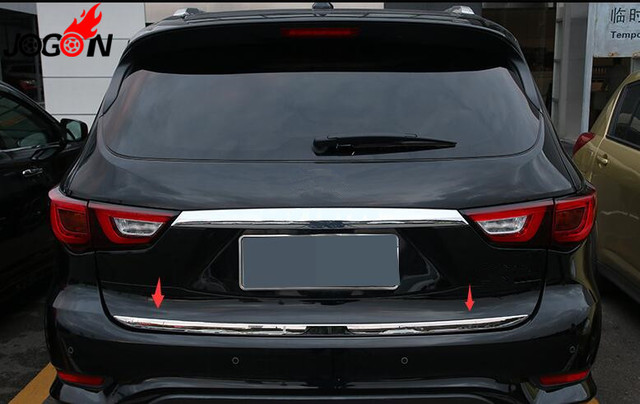 Accessories 304 Stainless Steel Rear Trunk Gate Lid Cover Trim Molding For Infiniti Qx60 2016 2017 Car Styling