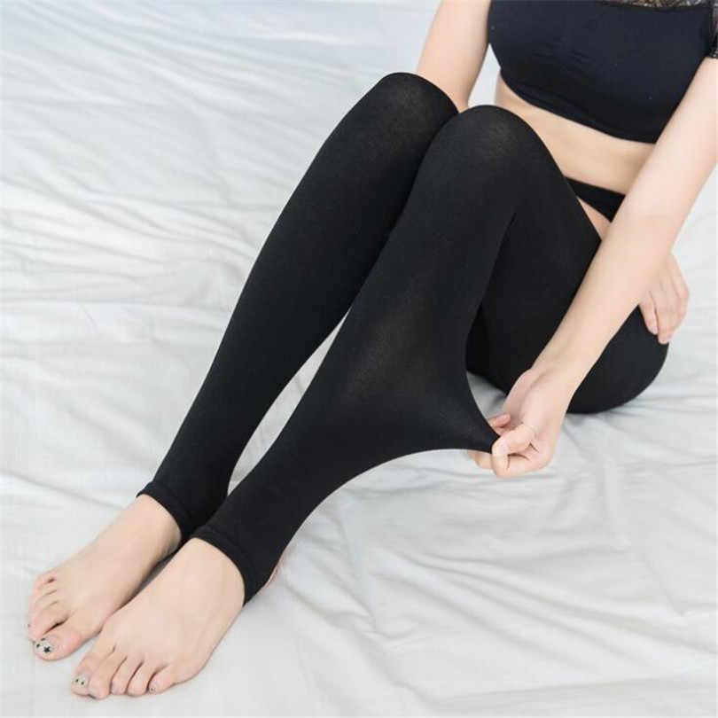 2019 mulheres outono inverno grosso quente legging escovado forro estiramento fleece calças pisar pés leggings alta elasticidade leggings