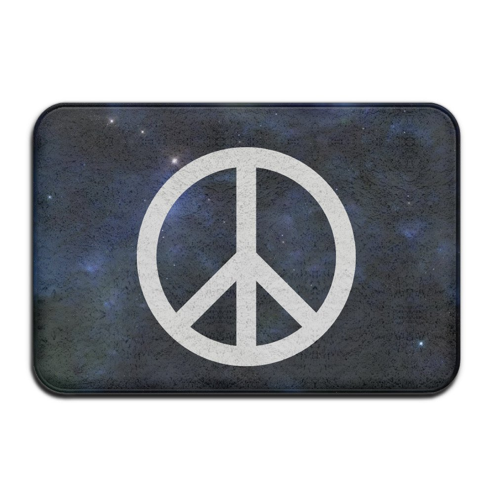 Classic Peace Sign Symbol Logo Indoor/outdoor Durable And Washable Decor  Bathroom Entrance Rug(