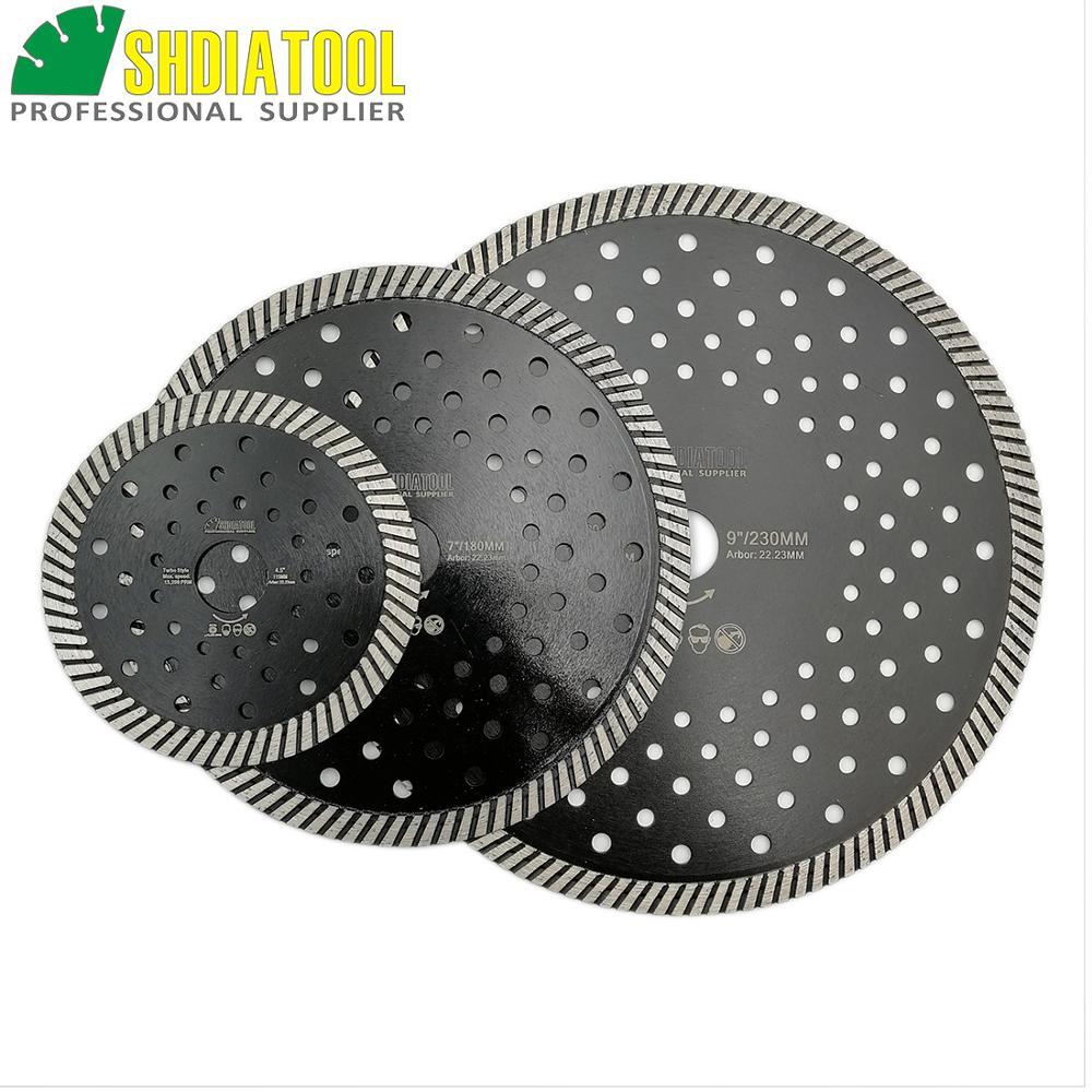 SHDIATOOL 3pcs Dia 115+180+230mm Diamond Blades Multi Purpose Sawblade Multi Hole Steel Core Cutting Disc Diamond Wheel Disc