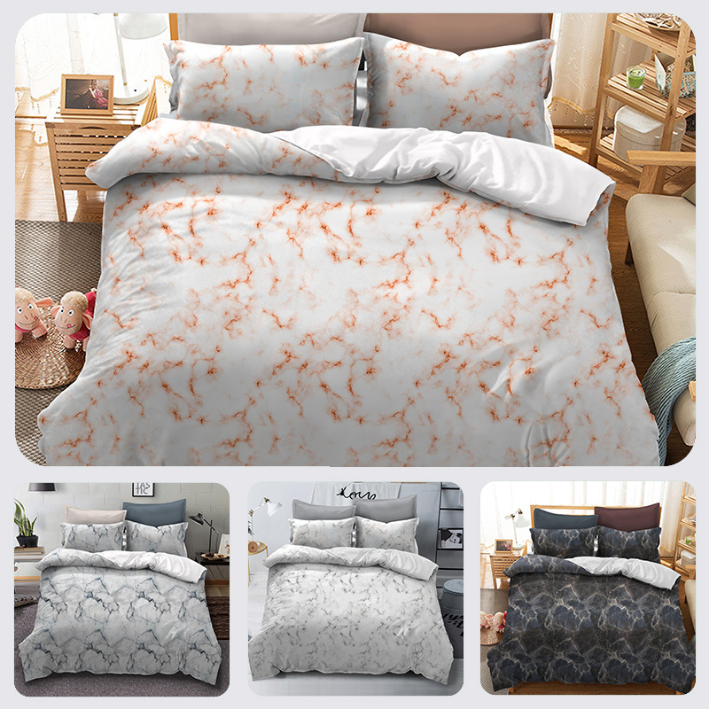 Nordic Style Bed Linen Set Marbling Printing  Adults Bed Cloth Comforter Duvet Cover Sets SetsBedclothes Bedding Set for KingNordic Style Bed Linen Set Marbling Printing  Adults Bed Cloth Comforter Duvet Cover Sets SetsBedclothes Bedding Set for King