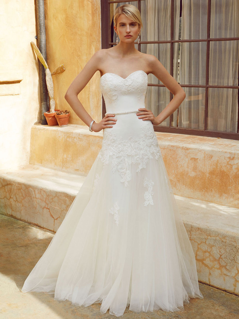 Free Shipping Online Sale Romantic, Modified A line Wedding Dress ...