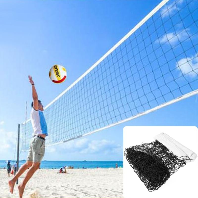 Professional Beach Volleyball Net High Quality Universal Style 9.5mx1m Volleyball Net Polyethylene Material Anti - Aging Beach