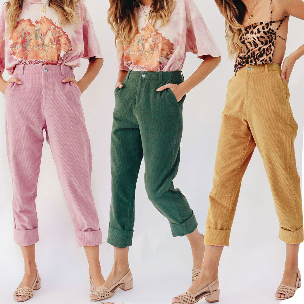 Hirigin High Waist Pants Women 2019 Fashion Street Wear Pencil Pants Cotton Slim Casual Outwear Women Clothes Outfits New Подушка