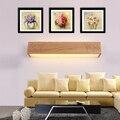 Simples E moderno De Madeira Quadrado Luzes Luminárias de Parede Do Banheiro LEVOU Lâmpada de Parede Arandela Arandela Aplik Lampara