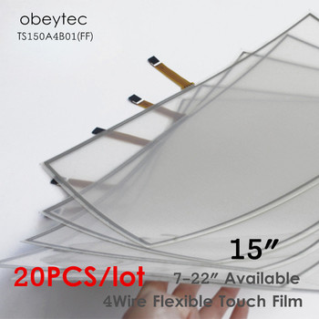 20PCS! Obeytec 15 inch film touch screen sensor, 4-wire resistive touch panel flexible, AA 305*229 mm, TS150A4B01(FF)