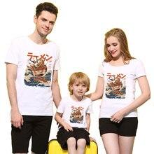 50a85228b92c ZSIIBO Girls T-Shirts For Boys Family matching Baby Kids clothes Manga  Cartoon Cotton Mother