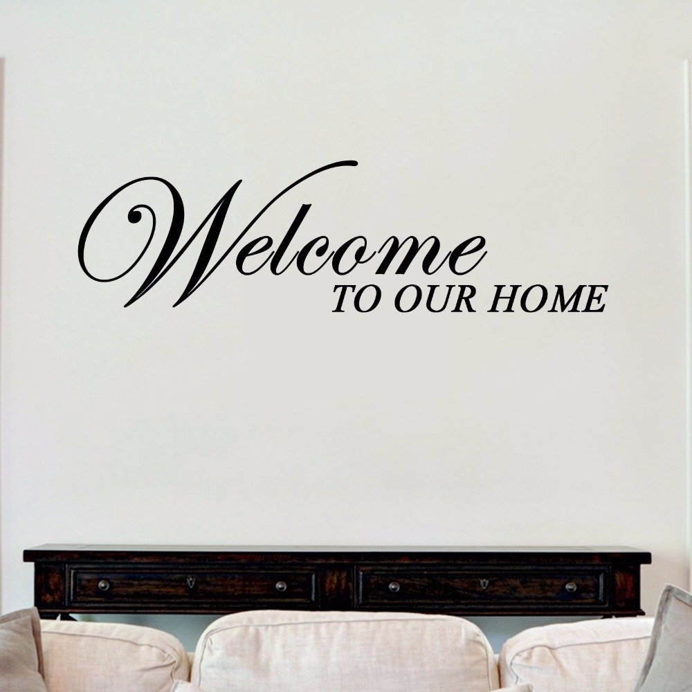 Welcome To Our Home Vinyl Wall Art Sticker Decal Home Decoration Quote Design