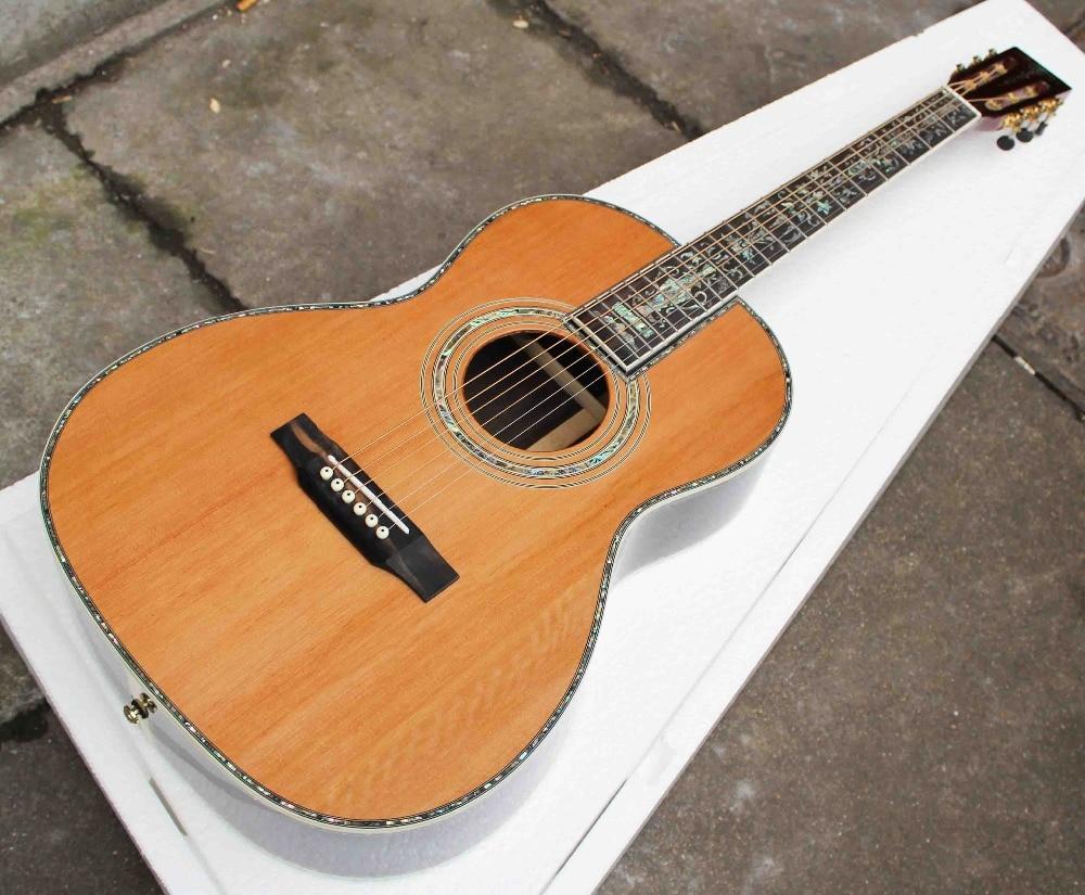 buy oem custom guitar ooo size acoustic guitar guitarra acustica solid. Black Bedroom Furniture Sets. Home Design Ideas