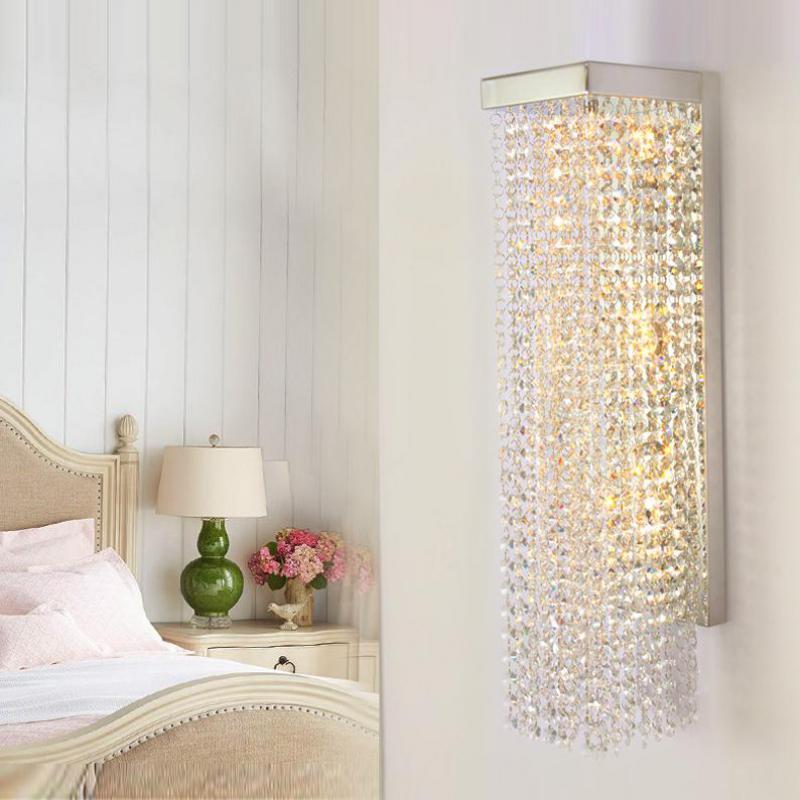 Moderne Vertikale Kristall Wandleuchte Aufrecht Kristall Wandleuchten  Badezimmerspiegel Licht Korridor LED Indoor Hause Beleuchtung Arandela In  Moderne ...