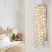 modern Vertical crystal sconce upright crystal wall lamps bathroom mirror light corridor LED indoor lamp home lighting Arandela