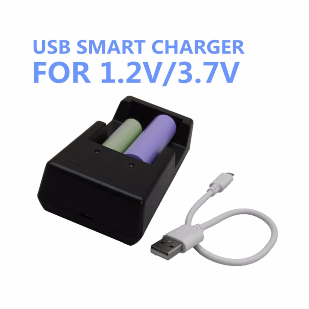 TOMO 3.7V Smart Rechargeable Battery Charger Box Multifunctional Lithium Battery Charger Compatible for Multi Type Battery