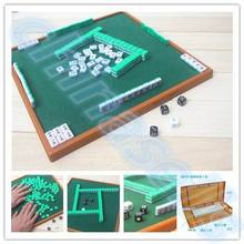 Mahjong-Set Board-Game Chinese Portable Traditional Travel Mini Family Small