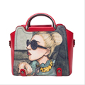 2017 New Arrive Bags Handbag Women Famous Brands beauty Printing Beautiful PU Shoulder women-bag Ladies crossbody bag Handbags