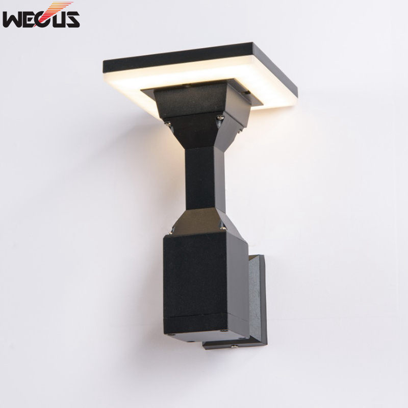 Patented mold design, die-cast aluminum, Modern Waterproof (real IP55) LED Wall Light Outdoor Wall Lamp AC 85-265V 12W rouda best 36w 36 led wall light die casting aluminum modern cuboid wall lamp outdoor decoration home lighting ac 85 265v