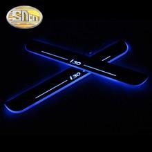 SNCN 4 шт. акриловый движущийся светодиодный приветственный автомобиль педаль накладка педаль порога дорожка светильник для hyundai I30 2007