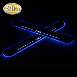 SNCN 4PCS Acrylic Moving LED Welcome Pedal Car Scuff Plate Pedal Door Sill Pathway Light For Hyundai I30 2007 - 2018 2019(China)