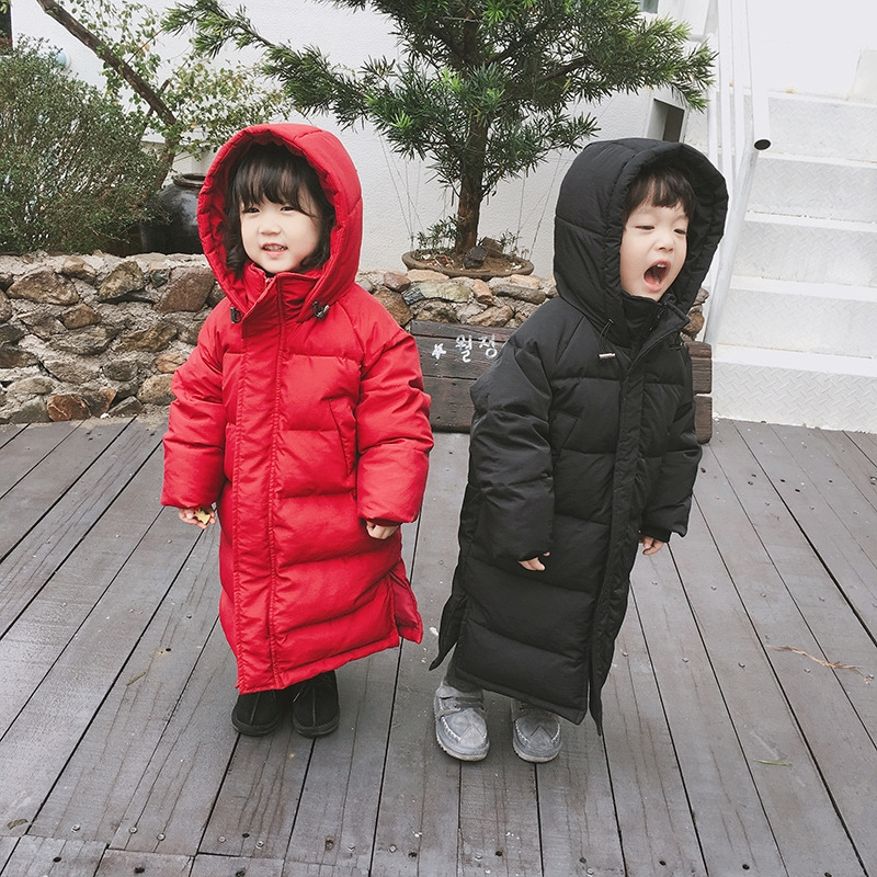 4efe0df3e 90% white duck down snow suit jacket super long cover leg kid coat hooded  baby