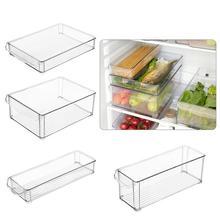 Refrigerator storage box can be stacked plastic storage box rectangular noodles vegetable fruit kitchen storage box