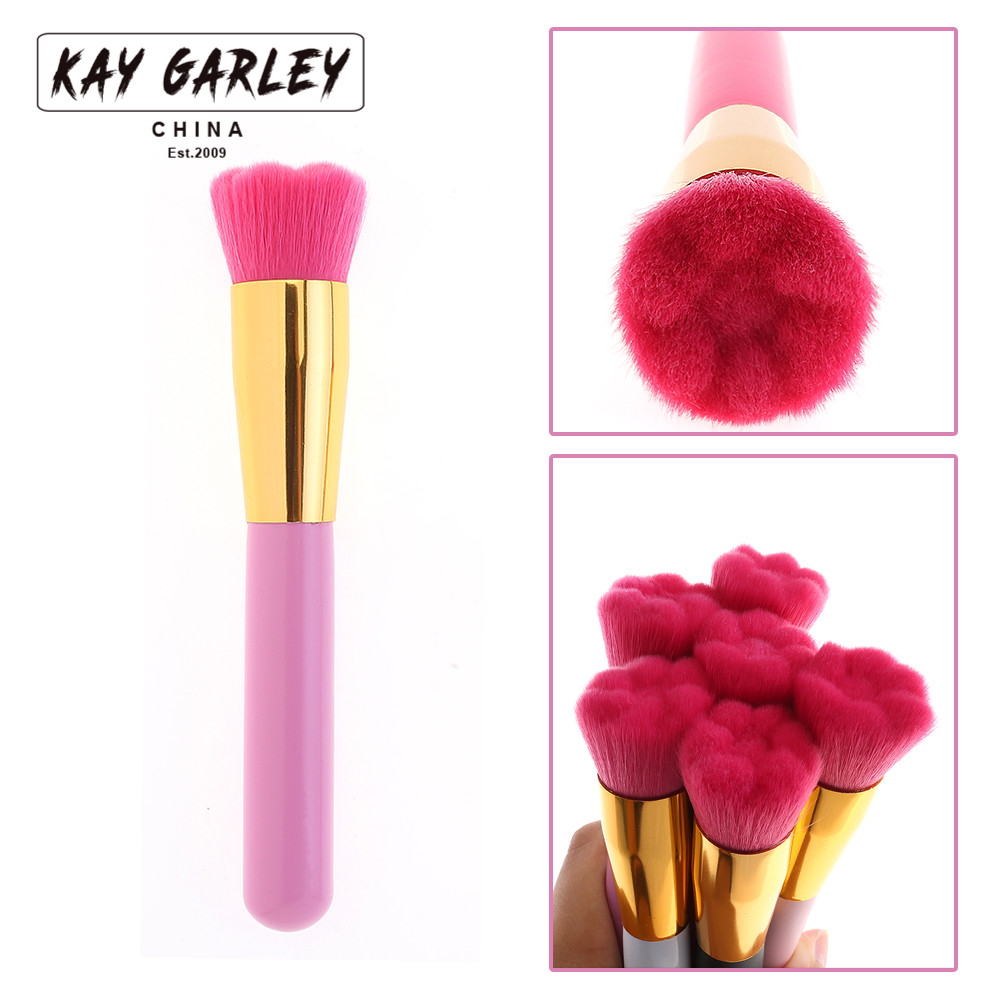KAY GARLEY Makeup Brush Cute Cat Claw Powder Brush Single Cosmetic Brush Face Beauty Soft Makeup Brushes Tools 1pc beauty women powder brush single soft face cosmetic makeup brush big loose shape maquiagem