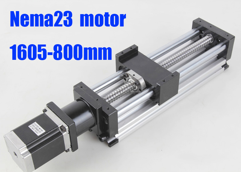 800mm cnc linear guide rail linear motion systems 1605 ball screw + nema 23  linear slide motor for x y z axis cnc router LG058 рюкзак dakine dakine da779bucoxs3
