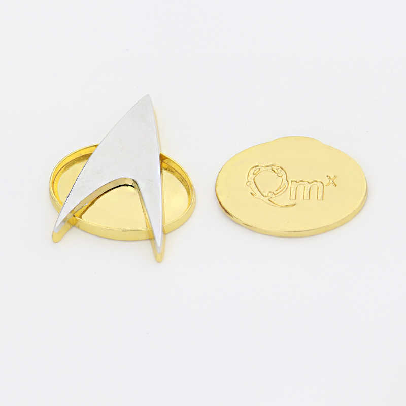 Movie Star Trek Badge The Next Generation Communicator Insignia Badge Pin  Brooch Alloy Zinc Metal Halloween Prop Gif For Man