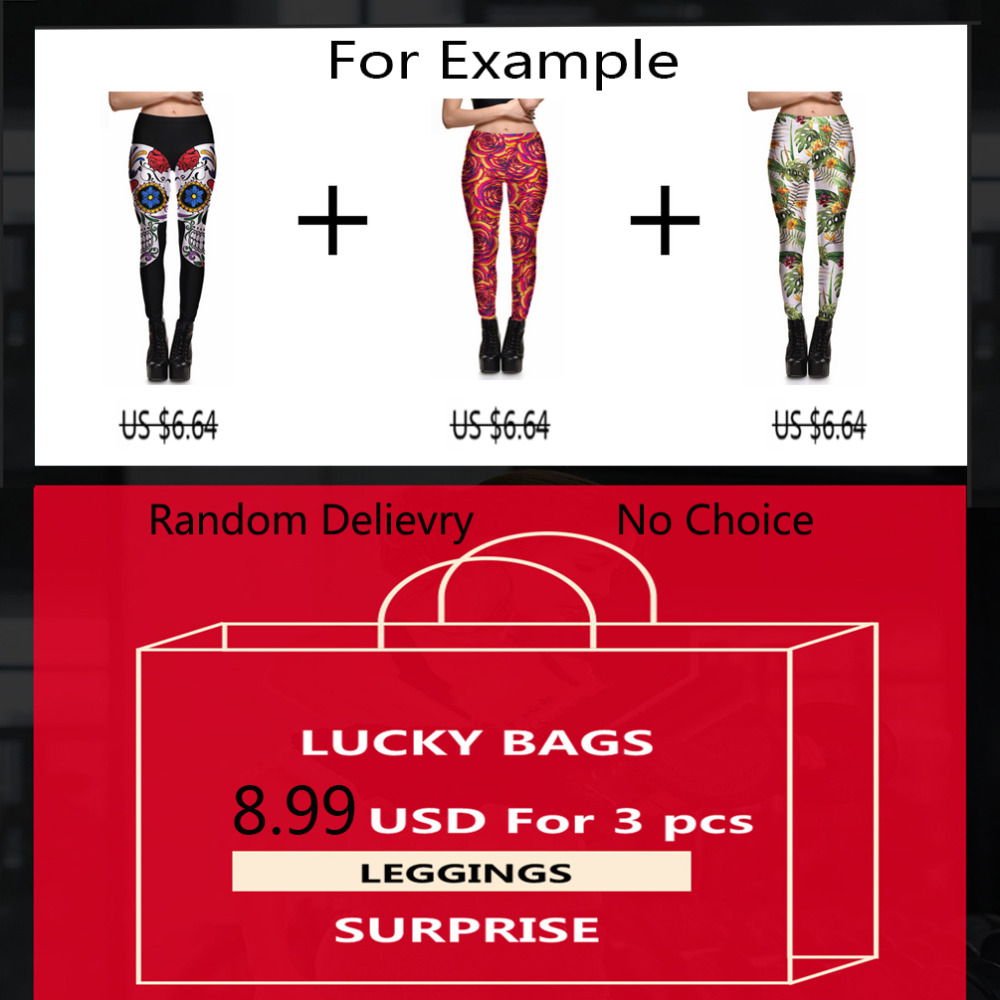 {Qickitout   leggings  } BIG SURPRISE Women workout   leggings   3 pcs fitness elastic   leggings   Lucky Bags Year-end Benefits S-XXXXL