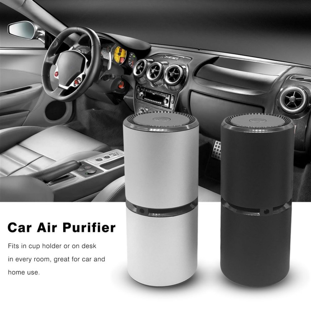 Mini Portable Car Air Purifier Vehicle Fresh Air Anion Ionic Purifier Oxygen Bar Ozone Ionizer Cleaner With Dual USB Ports