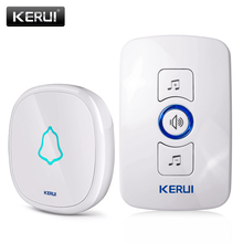 KERUI EU/US/UK Plug 32 Songs Optional Waterproof Touch Button Smart Home Welcome Doorbell Alarm Intelligent Wireless Doorbell