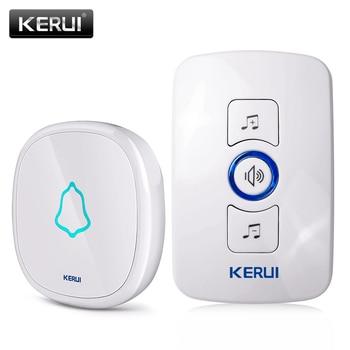 Kerui EU/US/UK Разъем 32 Песни Дополнительный Водонепроницаемый сенсорная кнопка умный дом Добро пожаловать дверной звонок сигнализации Интеллек...