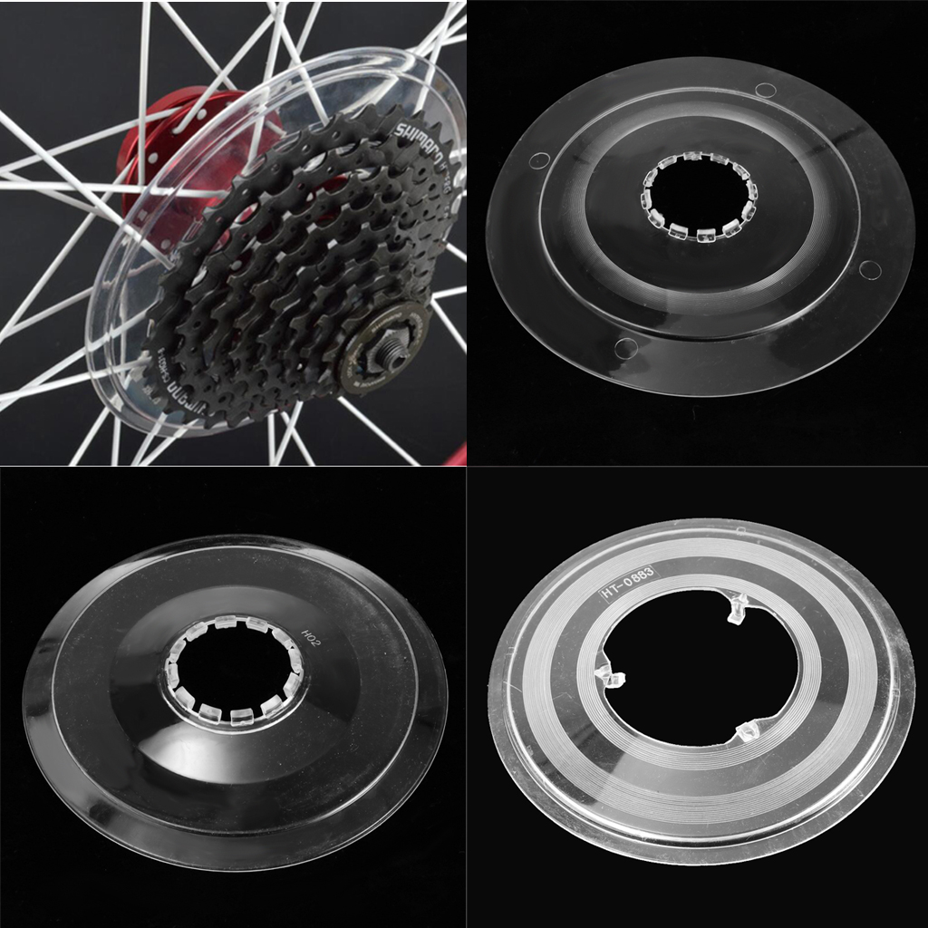 Transparent Bicycle Wheel Spoke Freewheel Protect Cover Protector Cassette Guard