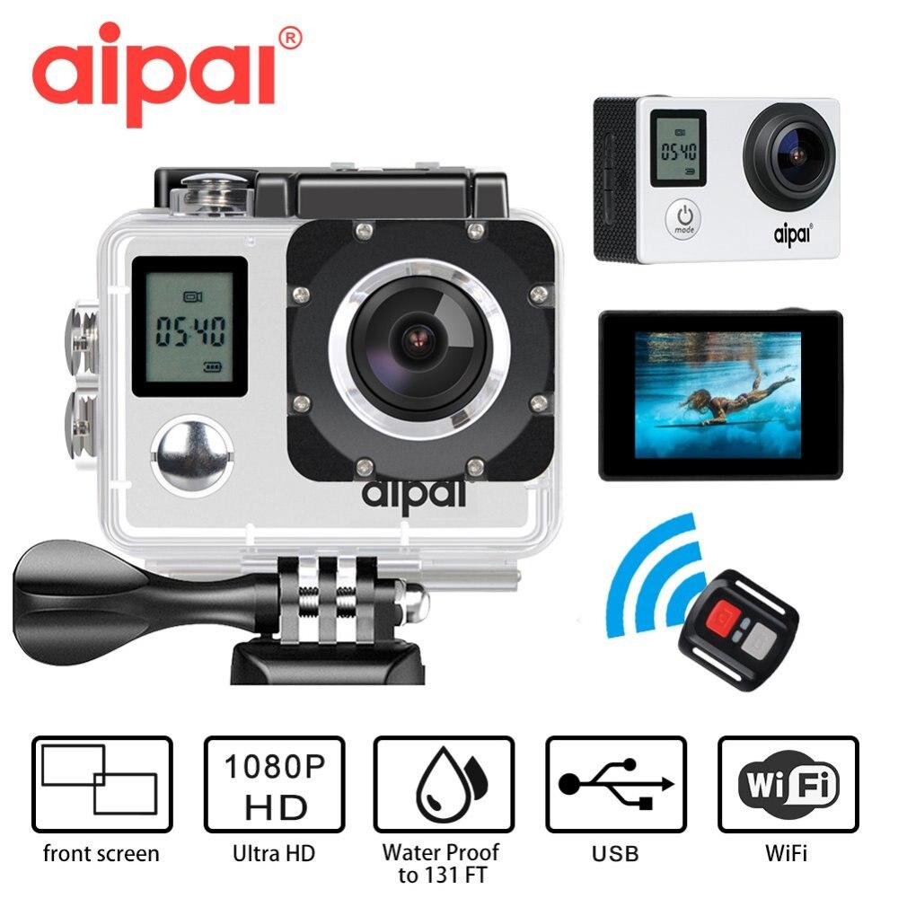 Doppel bildschirm WiFi Action kamera fernbedienung HD 1080 P 30fps Aipal A1 lite Sport kamera 2,0 LCD 40 mt wasserdichten Outdoor-Mini DV Kamera