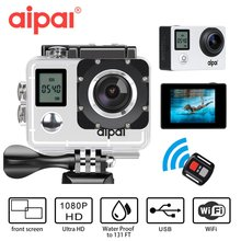 Double screen WiFi Action camera remote HD 1080P 30fps Aipal A1 lite Sport camera 2.0 LCD 40m waterproof Outdoor Mini DV Camera
