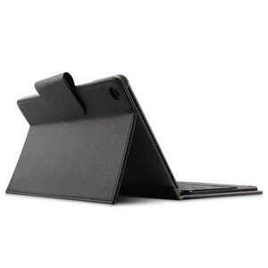 "Image 2 - Case Voor Xiao mi mi pad 4 Plus mi Pad4plus 10.1 ""Beschermhoes draadloze bluetooth Toetsenbord Pu Lederen mi pad4 Plus 10 ""Tablet case"