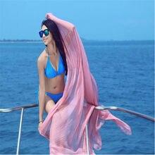 Las mujeres de Gasa Sexy Wrap Dress Sarong Pareo Beach Bikini Cover Up Bufanda