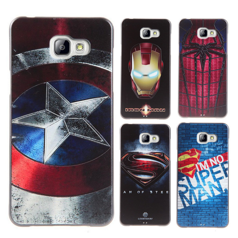 Clespruce 3D <font><b>Cartoon</b></font> Captain <font><b>Spider</b></font> Super <font><b>Man</b></font> Back <font><b>Case</b></font> For <font><b>Samsung</b></font> <font><b>Galaxy</b></font> A5 A7 A520 A720 2017 Soft TPU Silicon Phone Cover