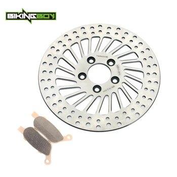 """BIKINGBOY 11.5"""" Rear Brake Disc Disk Rotor Pads FXDC FXDF Fat Bob FLSTC Heritage FLSTF FLSTN Deluxe FLSTSB FLD FLS Slim 12 13 14"""