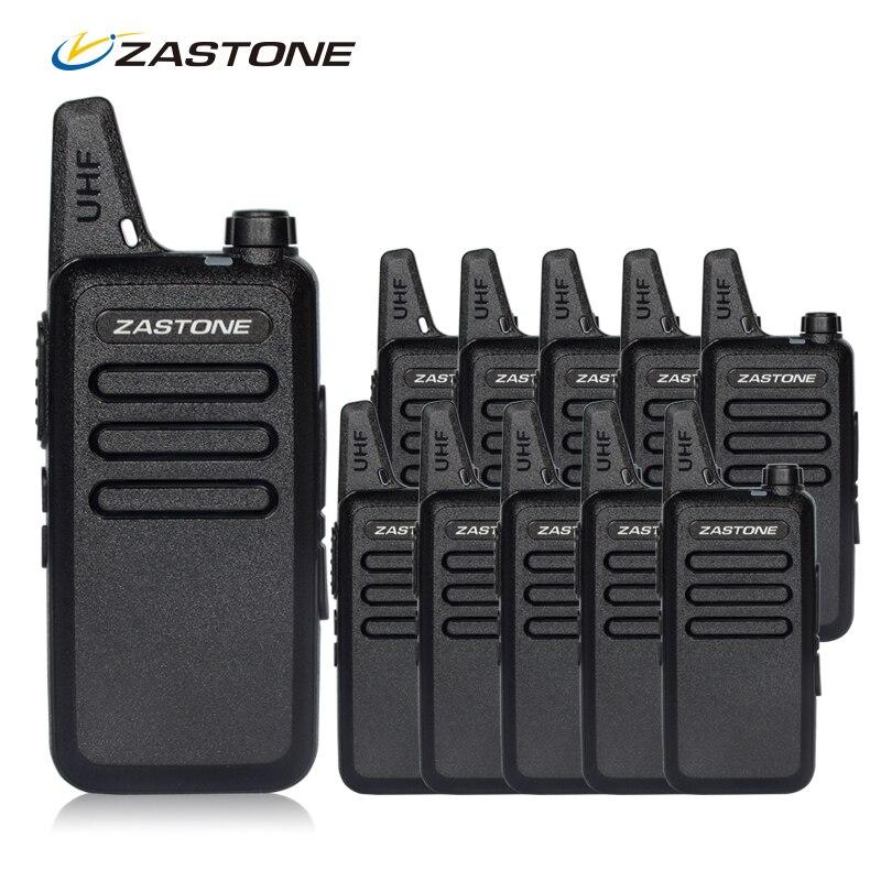 bilder für 10 teile/los Zastone ZT-X6 Handheld Walkie Talkie UHF 400-470 mhz Günstigen Preis Mini Radios Comunicador Transceiver CB Radio