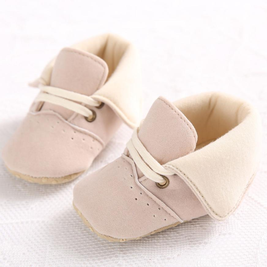 2017 Toddler Infant Newborn Soft Sole Baby Girl Boy Prewalker Shoes BFOF